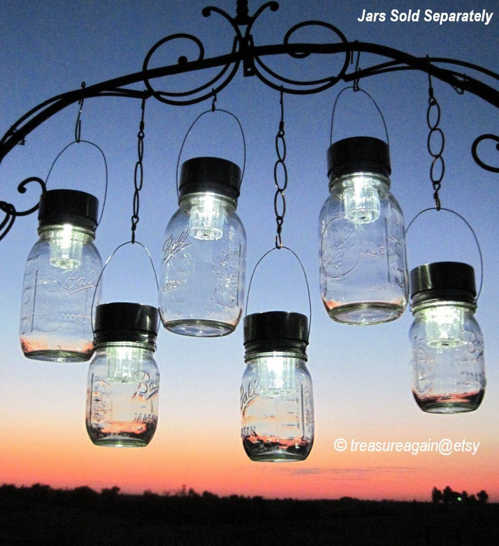 Outdoor Event Lighting Mason Jar Solar Lights Wedding Lights Etsy