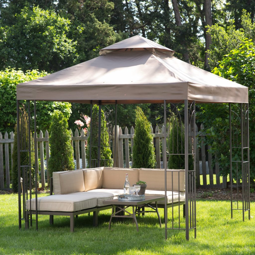 Outdoor Gazebo Backyard Canopy Cover Top Pergola Patio Sunshade 8x8