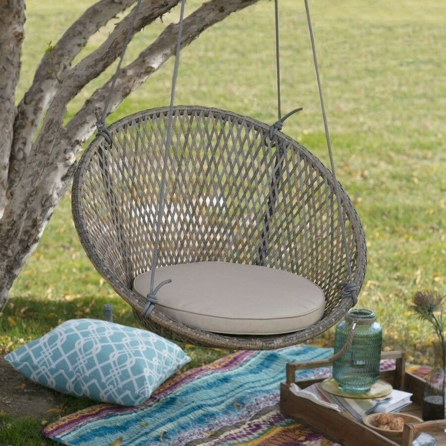 Outdoor Swing Chair Patio Garden Wicker Deck Hanging Porch Lounger
