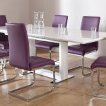 Outstanding Small Dining Room Design With Rectangle White Acrylic