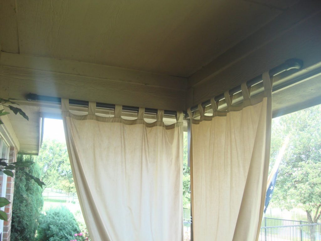 Paint Pvc Pipe Black For Outdoor Curtain Rod A Slot Was Cut Into