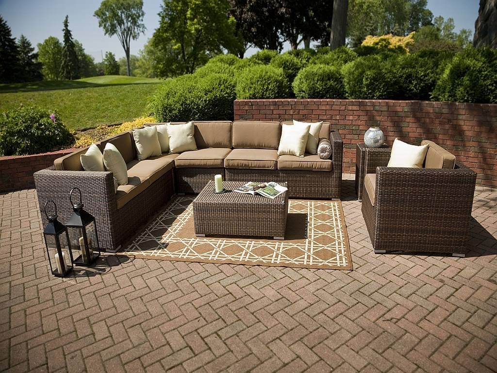 Palmetto 7 Pc Resin Wicker Patio Furniture Set 1203