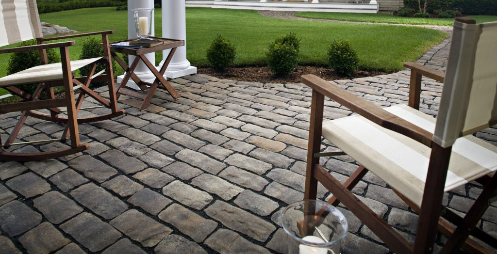 Patio Design Ideas With Pavers Cobblestone Paver Patio San Diego