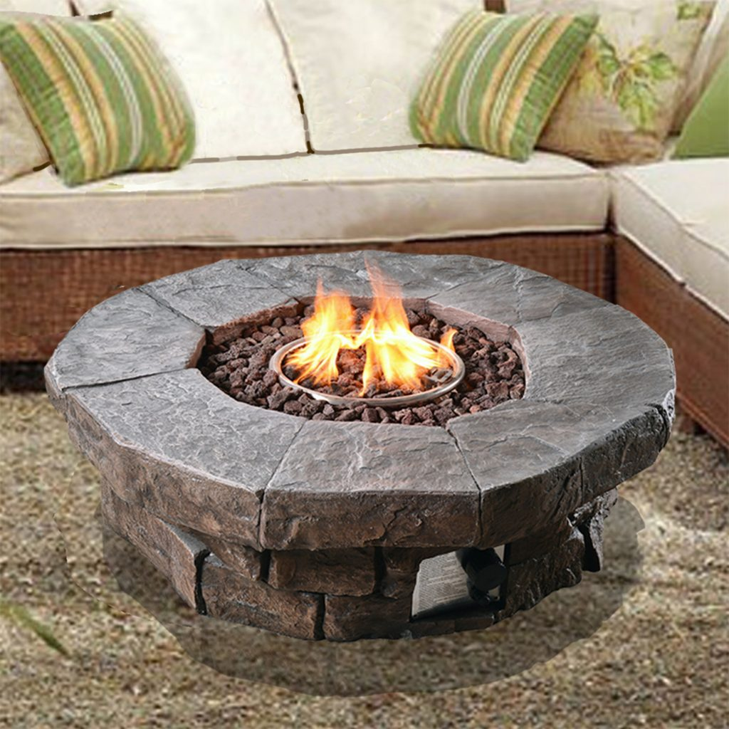 Peaktop Outdoor Polyresin Propane Gas Fire Pit Reviews Wayfair