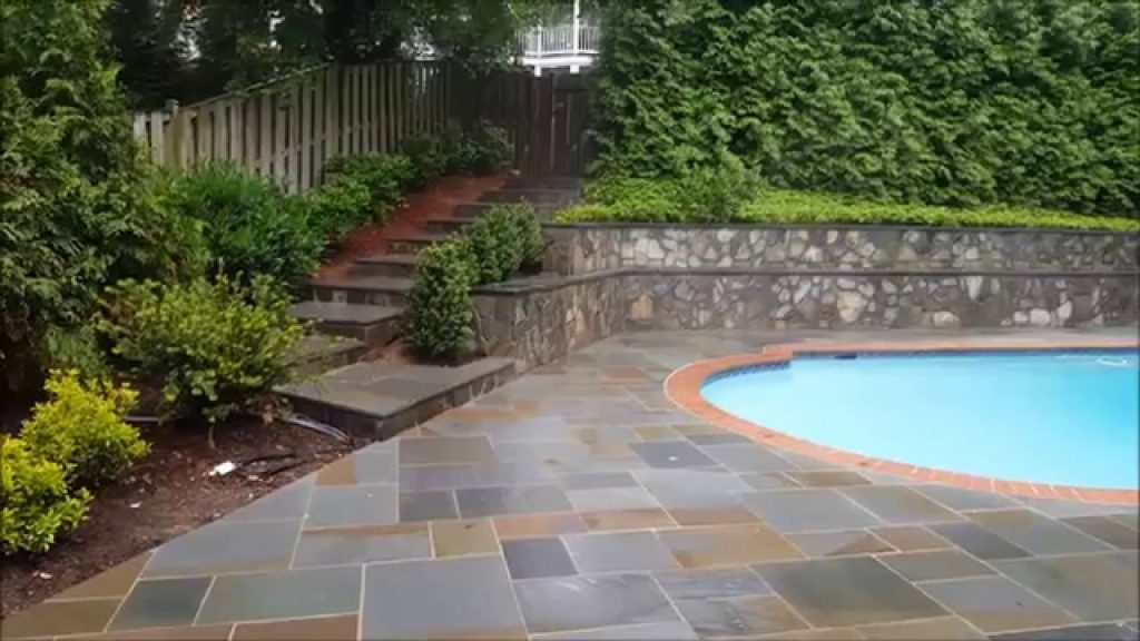 Pennsylvania Flagstone Pool Deck And Patio In Arlington Va Youtube