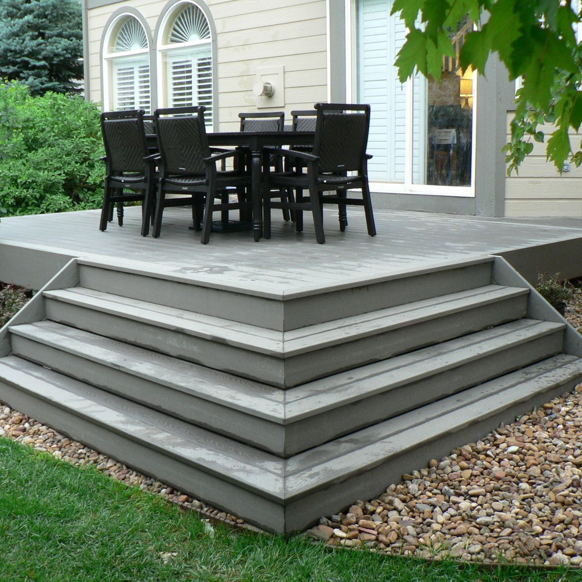 Pictures Of Composite Decks And Steps Small Composite Deck With