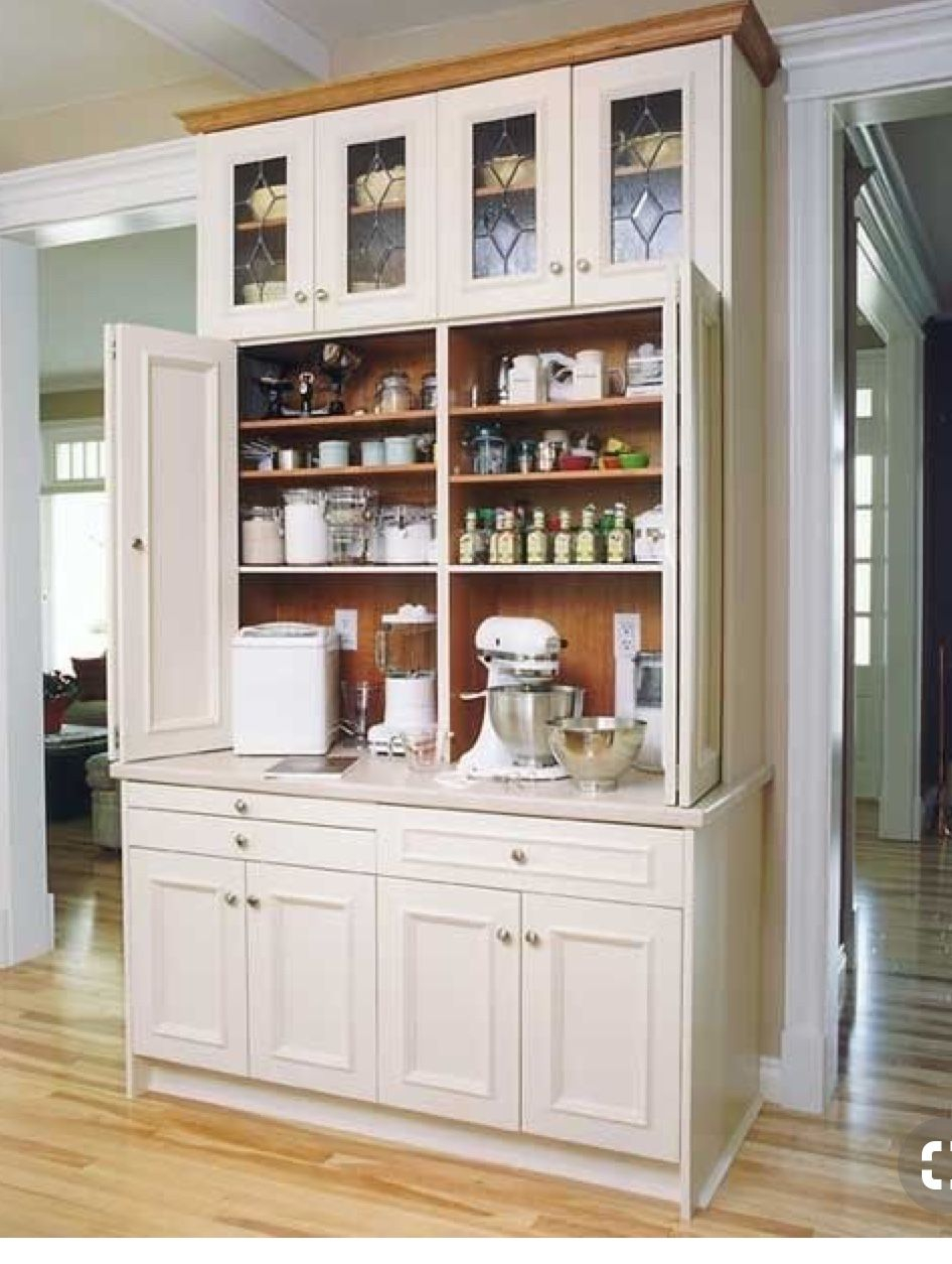 Pin C Last Name On Pantry Bakers Cabinet Baking Center Kitchen