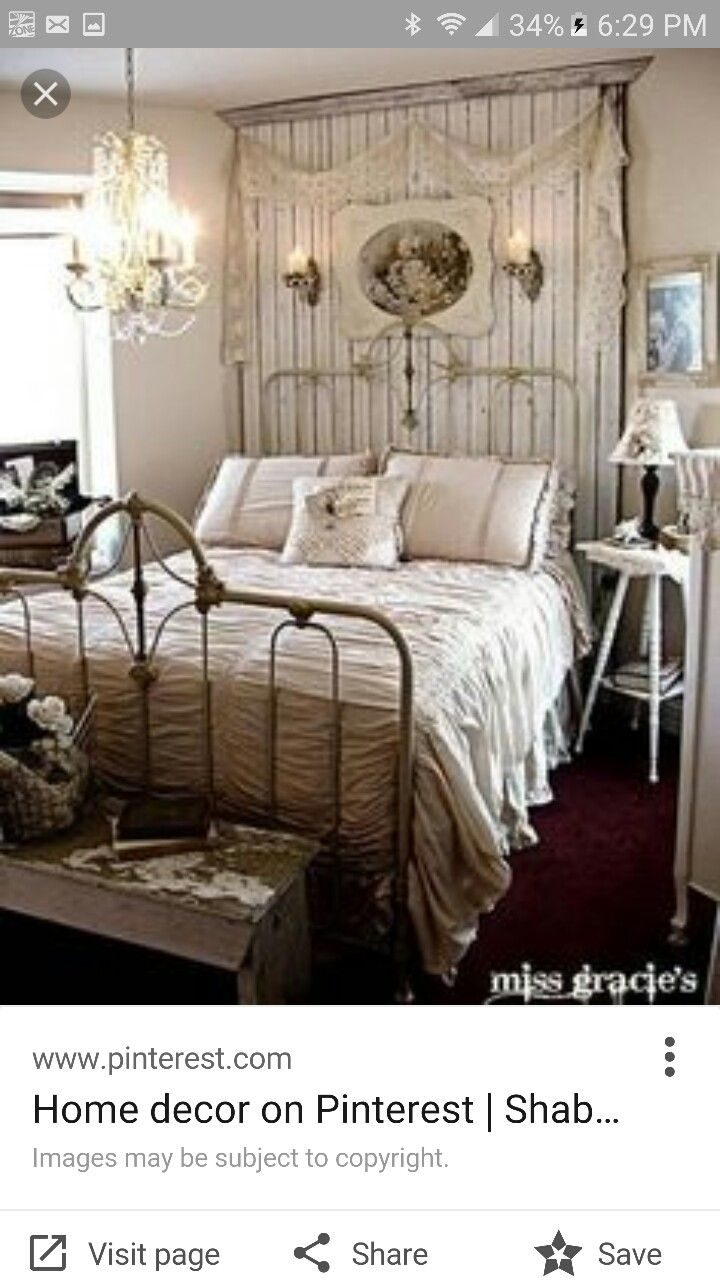 Pin Renee Sahady On Inspiration Pinterest Shab Bedroom