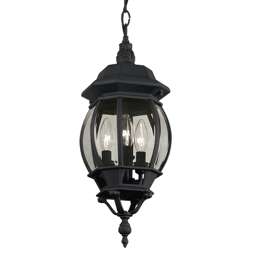 Portfolio Black Multi Light Traditional Clear Glass Globe Pendant