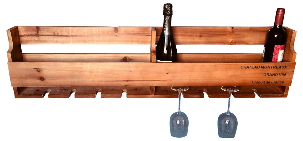 Prestington Wooden 10 Bottle Wall Mounted Wine Rack Reviews