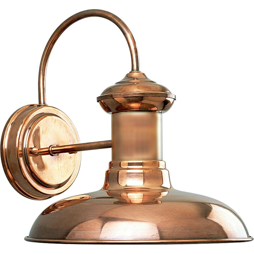 Progress Lighting Brookside Collection 1 Light Copper 1075 In