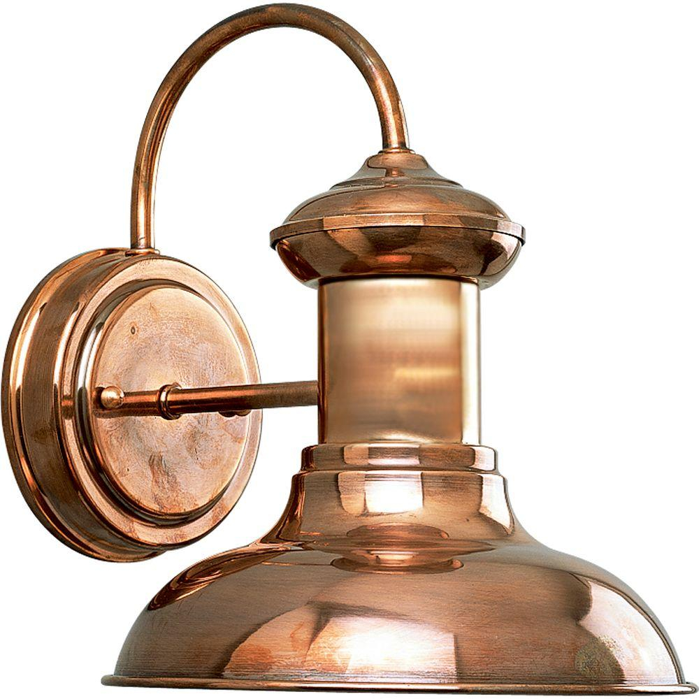 Progress Lighting Brookside Collection 1 Light Copper 975 In