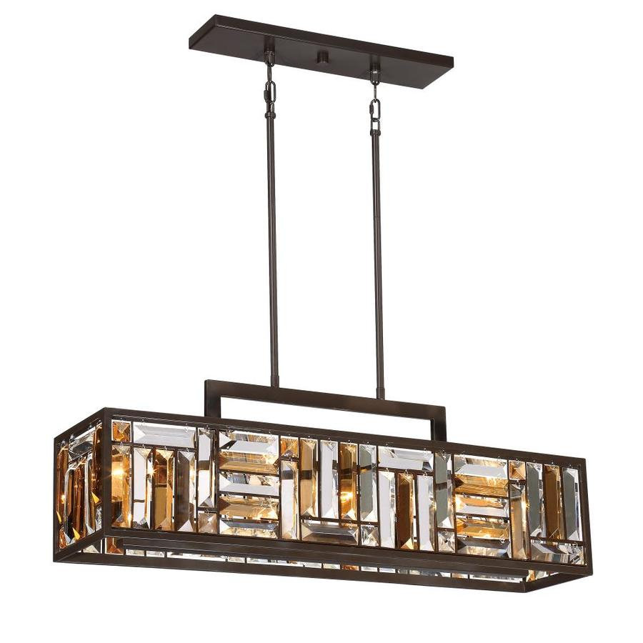 Quoizel Crossing 825 In W 4 Light Bronze Kitchen Island Light With