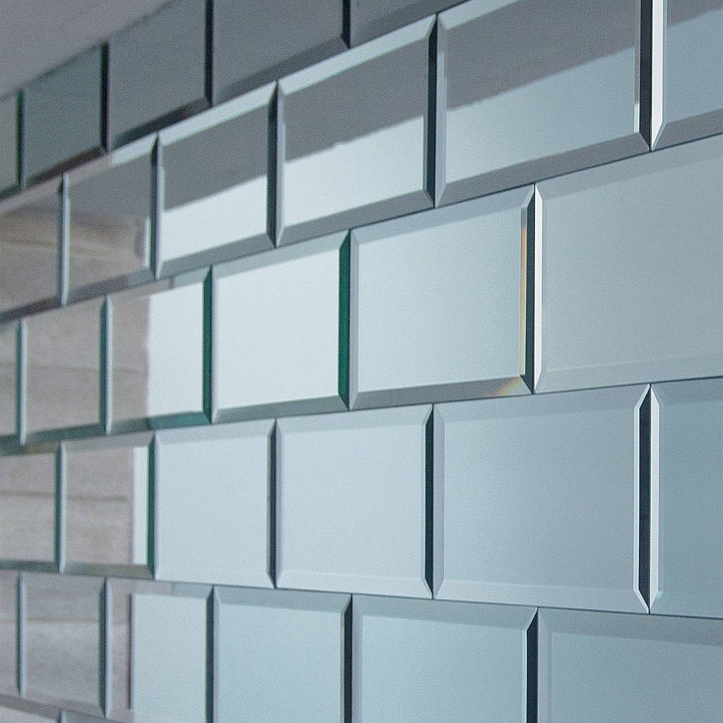 Rectangular Mirrored Tiles Out There Interiors
