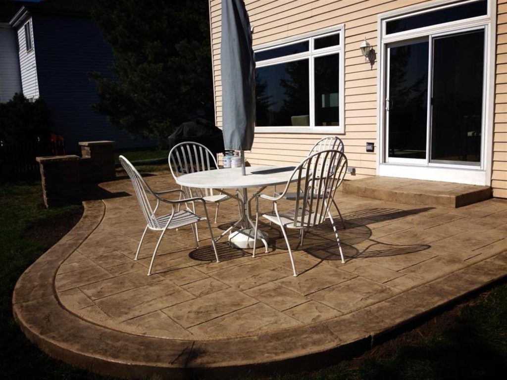 Residential Stamped Concrete Patios Walks Steps Photo Gallery