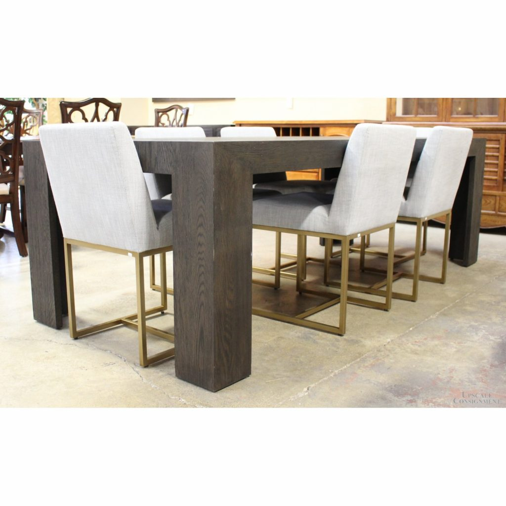 Restoration Hardware Dining Table W6 Chairs Upscale Consignment