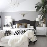 Romantic Black And White Bedroom Ideas You Will Totally Love 60