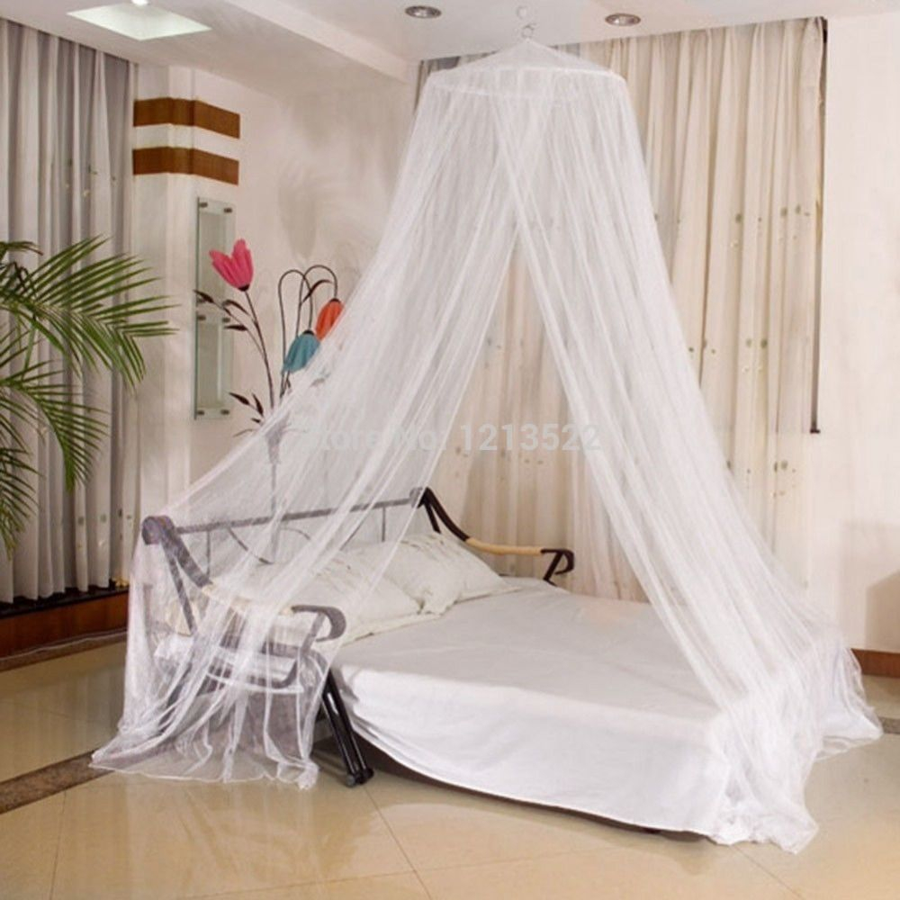Round Lace Curtain Dome Princess Mosquito Net Bed Canopy Netting