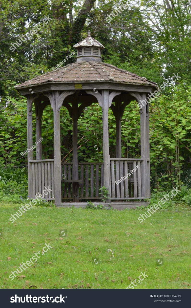 Rustic Garden Gazebo Stock Photo Edit Now 1089584219