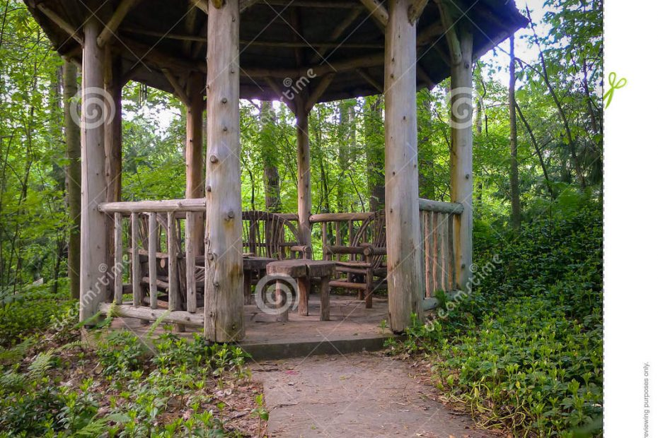 Rustic Garden Gazebo Stock Photo Image Of Green Beautiful 24920940