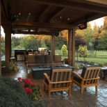 Seating Area Furniture Outdoor Covered Patio With Fire Pit Outdoor