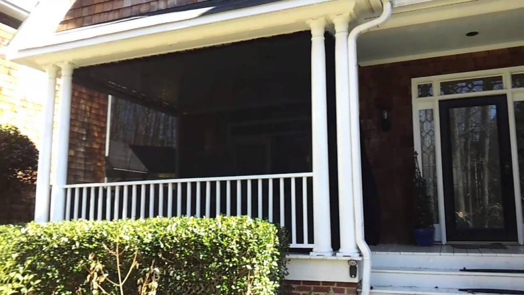 Shade Privacy Curtains For Porch Patio Youtube