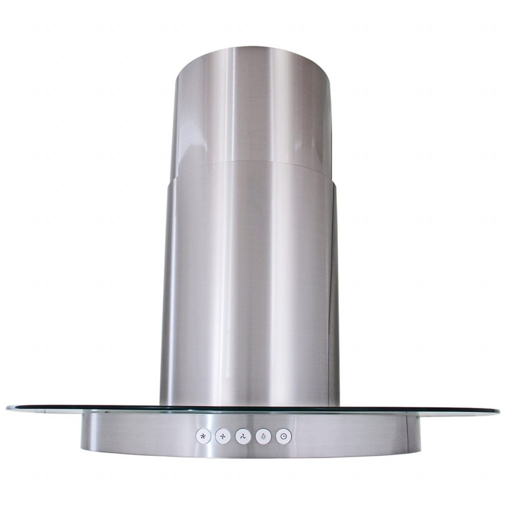 Shop Akdy 30 Stainless Steel Round Chimney Glass Wall Mount Range