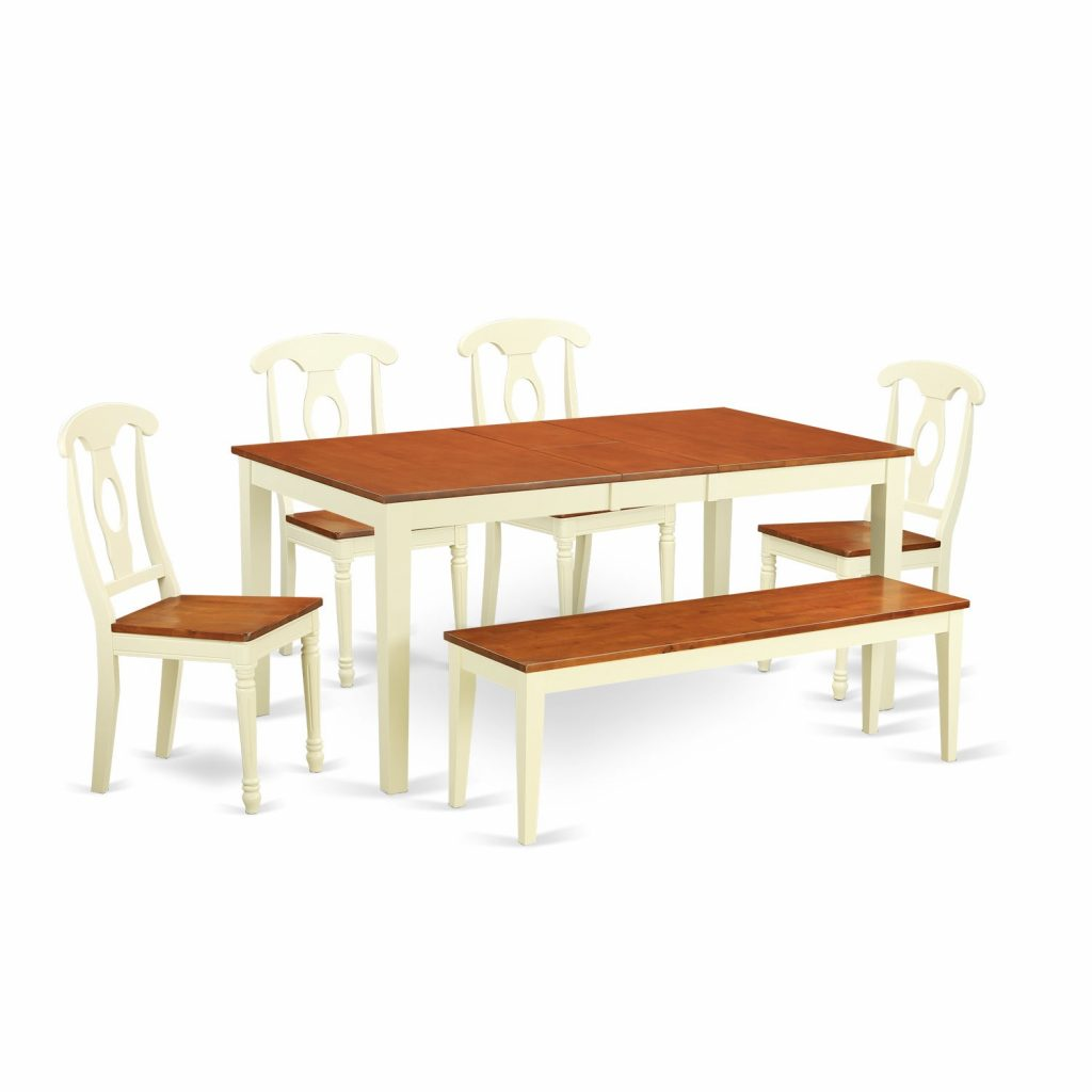 Shop Cream Cherry Wood 6 Piece Dining Room Table Set Free