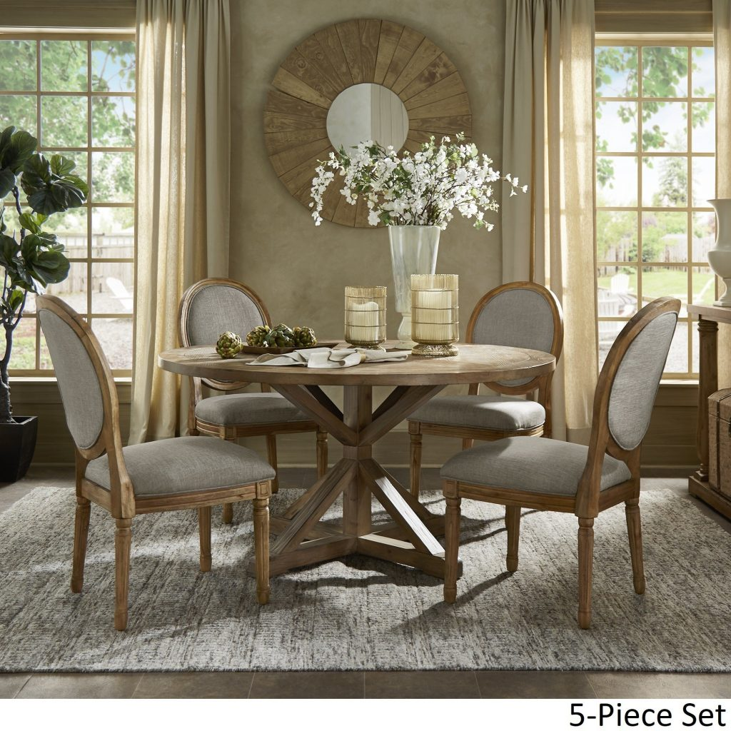 Shop Deana Round Dining Set With Round Back Chairs Inspire Q