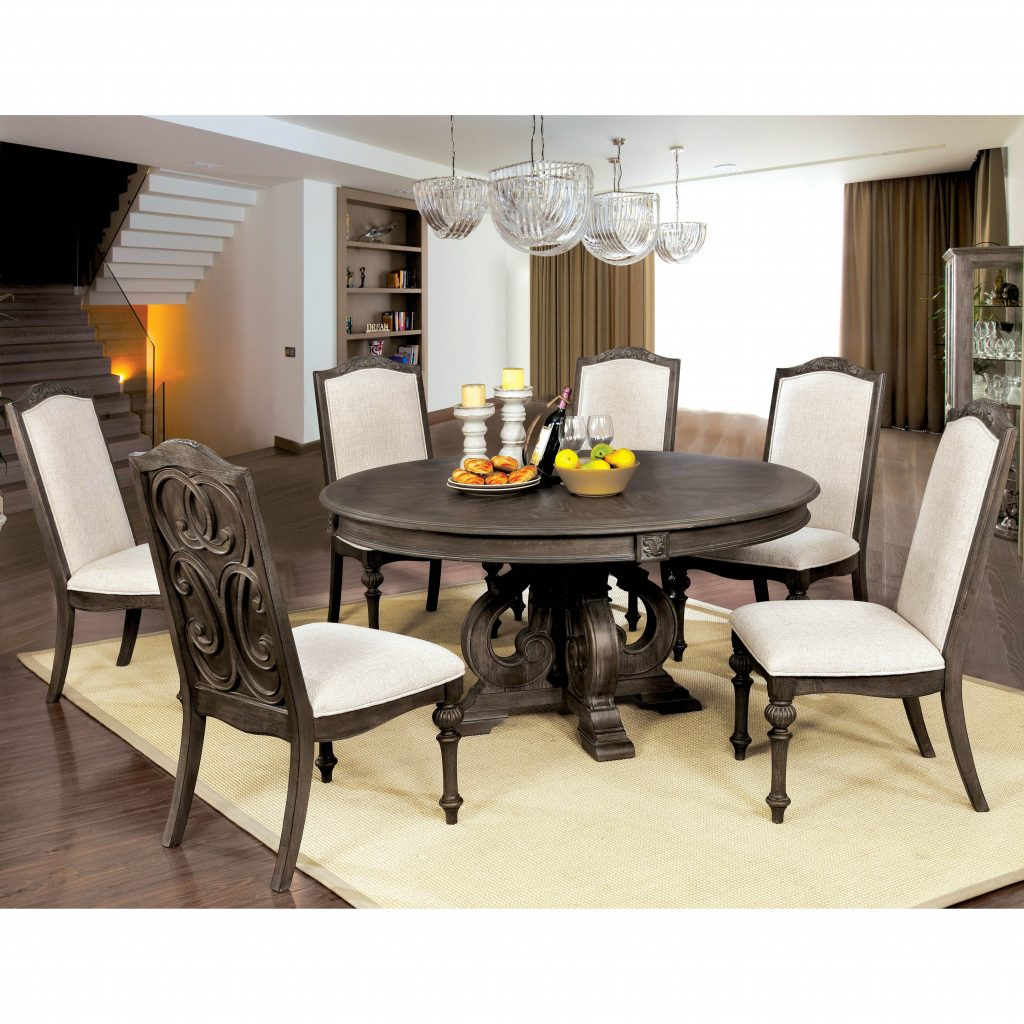 Shop Furniture Of America Leland Rustic 60 Inch Round Dining Table