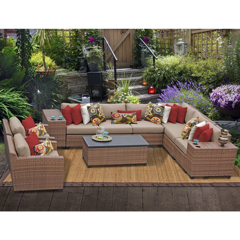 Shop Laguna 11 Piece Outdoor Wicker Patio Furniture Set 11d Free