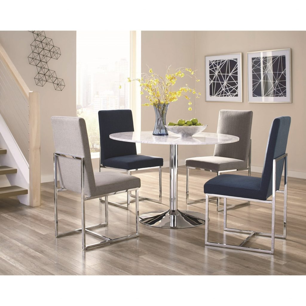 Shop Modern Floating Design Round Dining Set With Italian Carrara
