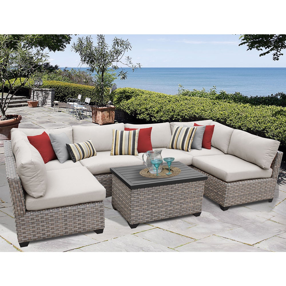 Shop Monterey 7 Piece Outdoor Wicker Patio Furniture Set 07a Free