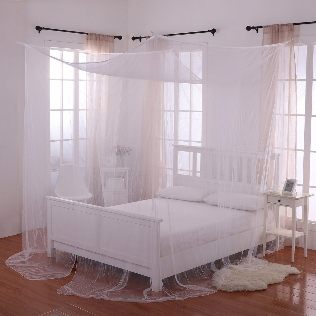Shop Palace 4 Post Sheer Panel Bed Canopy Free Shipping On Orders
