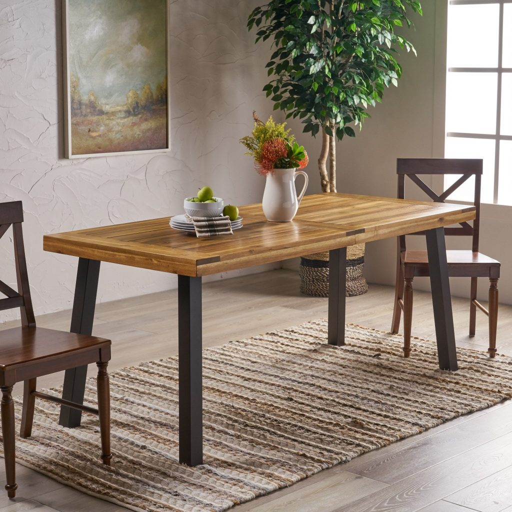 Shop Sparta Acacia Wood Rectangle Dining Table Christopher Knight
