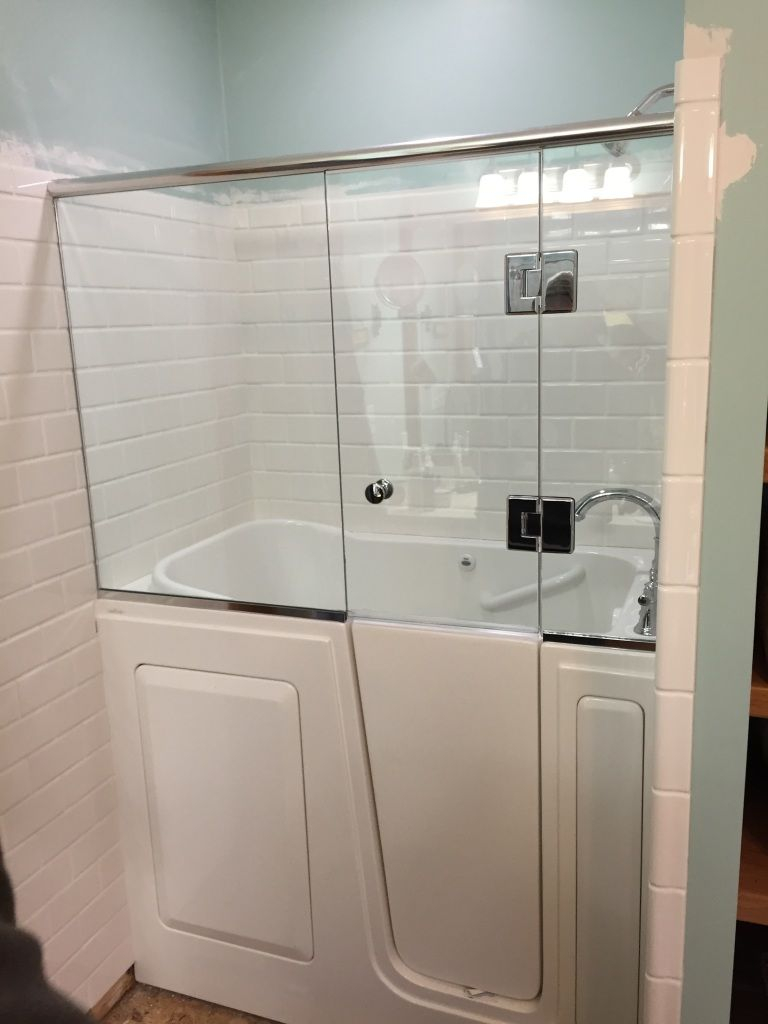 Shower Door Installed Onto A Walk In Tub For The Master In 2019