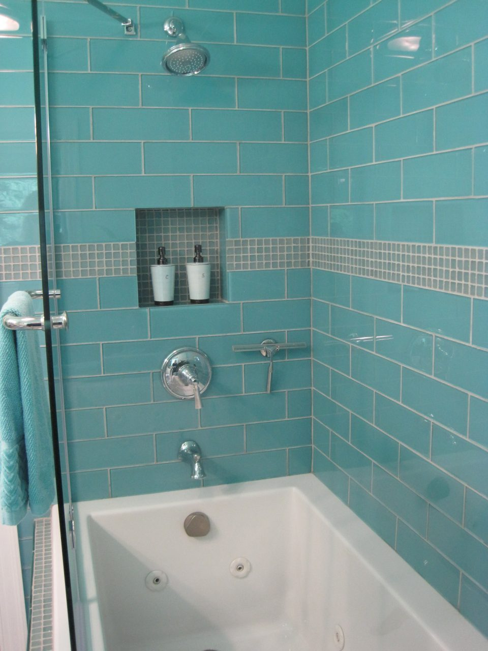 Sky Blue Glass Subway Tile Subway Tile Outlet Ba Shower Thank You