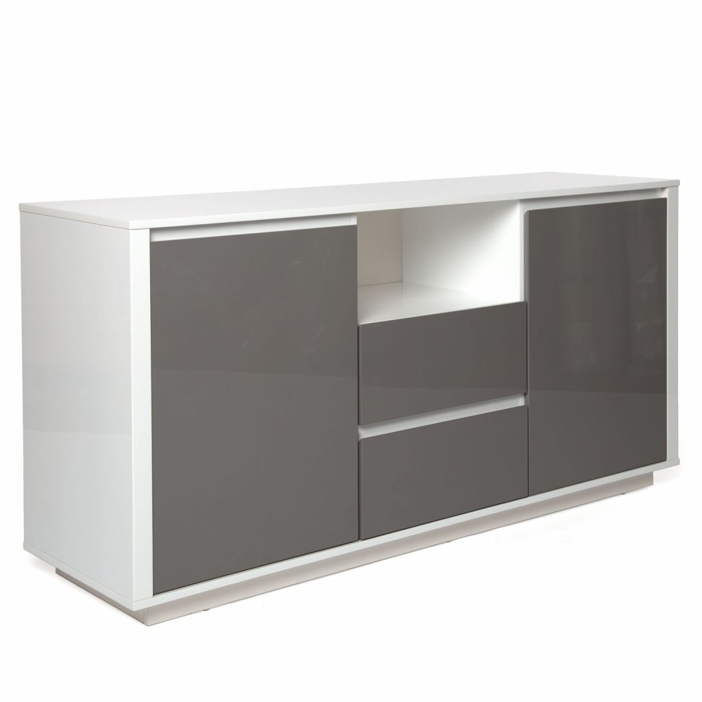 Small Modern Buffet In White And Grey