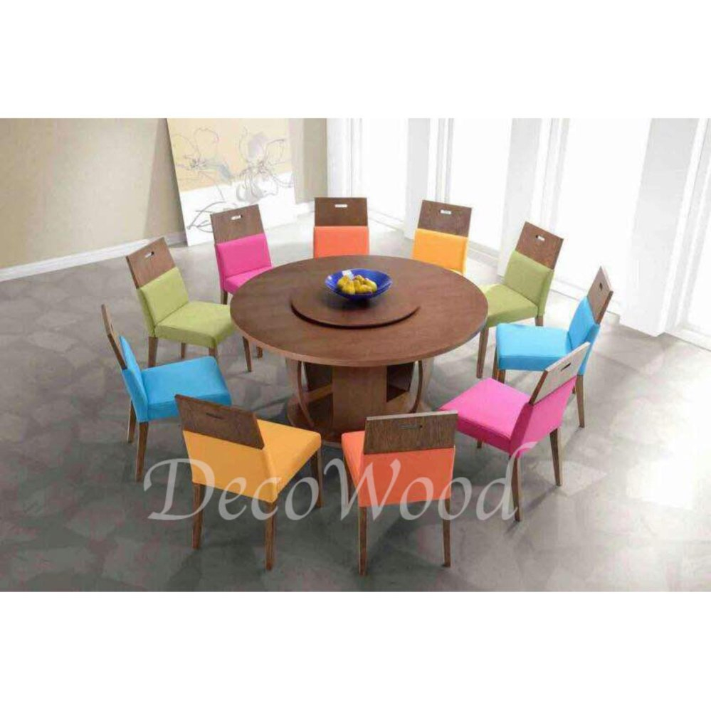 Solid Wood 1 Round Dining Table 8 End 4302021 1200 Am