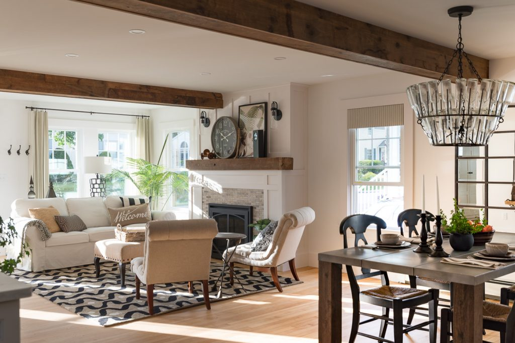 Sopo Cottage The Farmhouse Living And Dining Room Before After