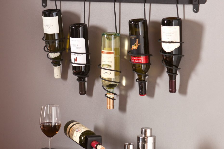 Southern Enterprises Gina Wall Mount Wine Rack Walmart