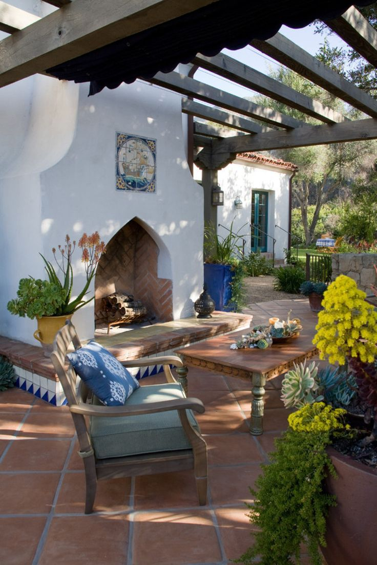 Spanishmediterranean Style Patio For The Porch And Patio