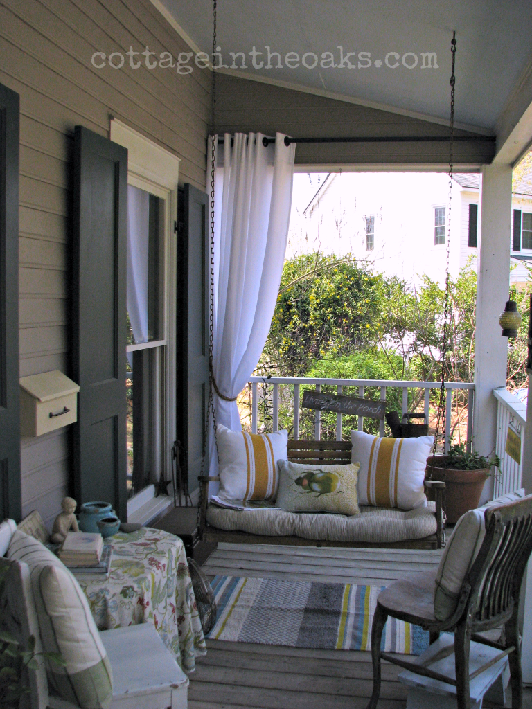 Spring Front Porch Cottage In The Oaks Porch Deck In