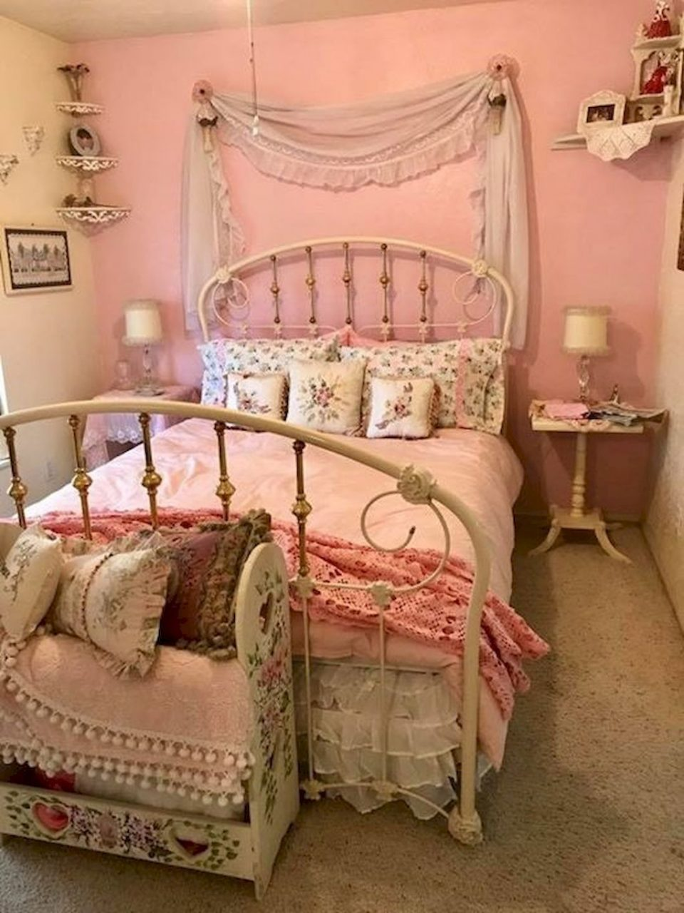 Stunning Shab Chic Bedroom Decorating Ideas 32 Shab Chic
