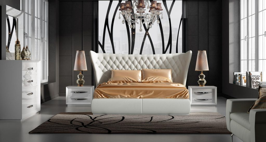 Stylish Leather Luxury Bedroom Furniture Sets Charlotte North