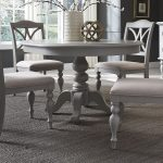 Gray Round Dining Room Table