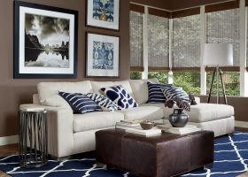Blue and Brown Living Room Ideas