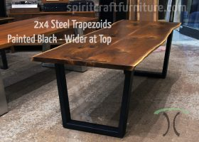 Wood Slab Table Base