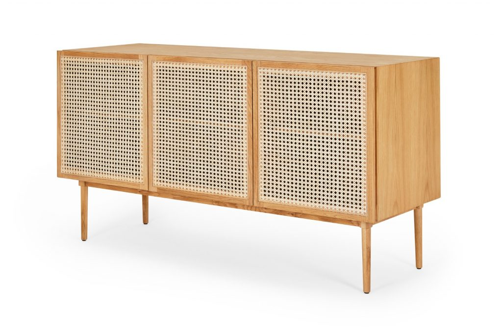 Tara Rattan Sideboard Buffet Cabinet With Storage Lounge Lovers
