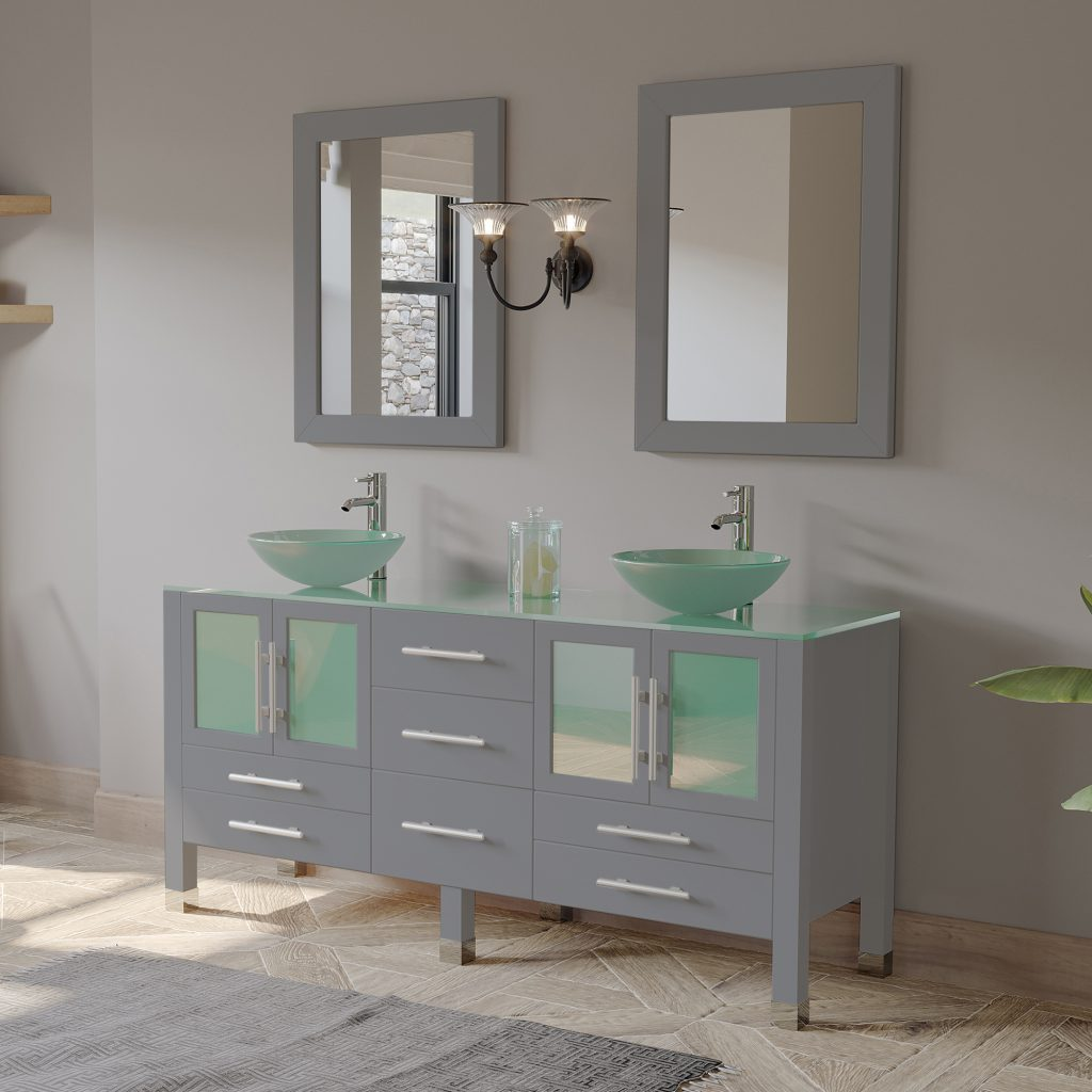 Tempered Glass Top Vanities Shop For Tempered Glass Bath Top